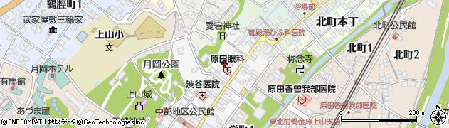 山形県上山市十日町9周辺の地図