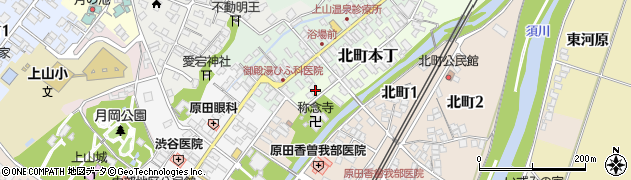 山形県上山市北町本丁2周辺の地図