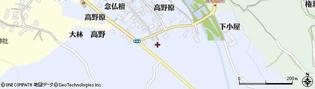 山形県上山市高野高野原102周辺の地図