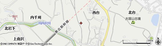 宮城県名取市愛島笠島(西台)周辺の地図