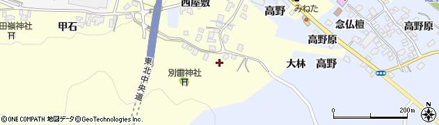 山形県上山市金谷464周辺の地図