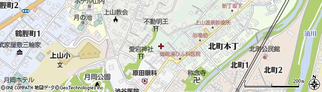 山形県上山市新丁2周辺の地図