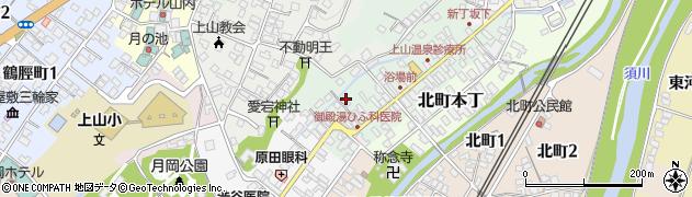 山形県上山市新丁周辺の地図