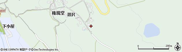 山形県上山市権現堂44周辺の地図