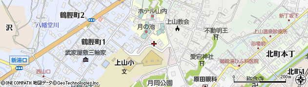 山形県上山市元城内6周辺の地図