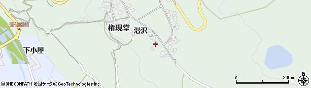 山形県上山市権現堂38周辺の地図