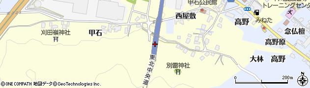 山形県上山市金谷甲石447周辺の地図