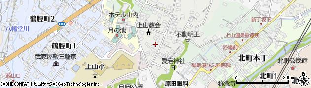山形県上山市御井戸丁2周辺の地図