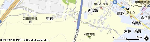山形県上山市金谷447周辺の地図