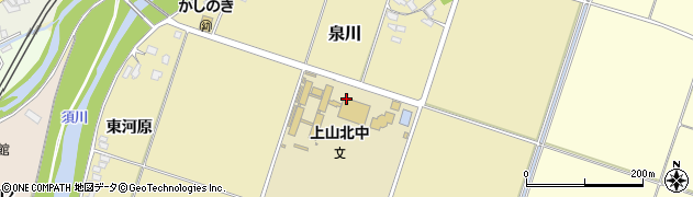 山形県上山市泉川松ノ木周辺の地図