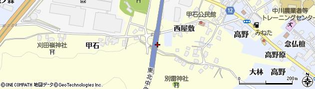 山形県上山市金谷445周辺の地図