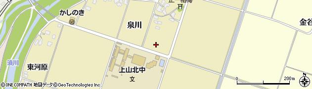 山形県上山市泉川梨ノ木周辺の地図
