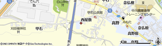 山形県上山市金谷1423周辺の地図
