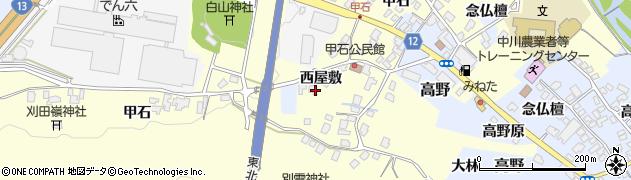 山形県上山市金谷甲石506周辺の地図