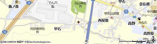山形県上山市金谷甲石443周辺の地図