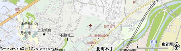 山形県上山市新丁8周辺の地図