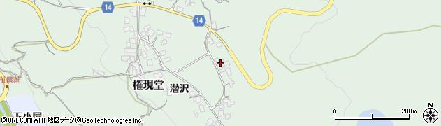 山形県上山市権現堂52周辺の地図