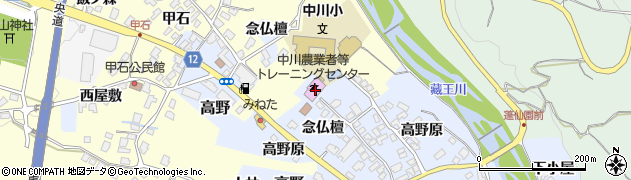 山形県上山市高野念仏檀127周辺の地図