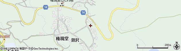 山形県上山市権現堂54周辺の地図
