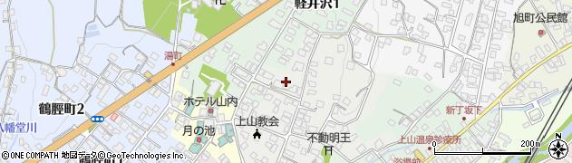 山形県上山市御井戸丁5周辺の地図