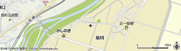 山形県上山市泉川368周辺の地図