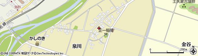 山形県上山市泉川周辺の地図