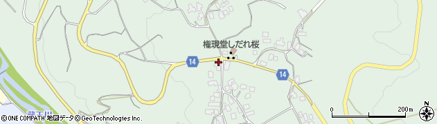 山形県上山市権現堂12周辺の地図