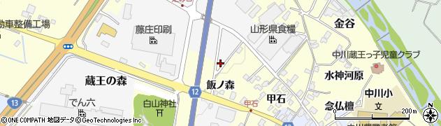 山形県上山市蔵王の森13周辺の地図
