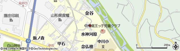 山形県上山市金谷水神河原1174周辺の地図