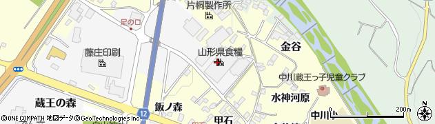 山形県上山市蔵王の森周辺の地図
