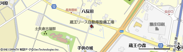 山形県上山市金谷飯ノ森1955周辺の地図