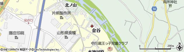 山形県上山市金谷鼠谷地1454周辺の地図