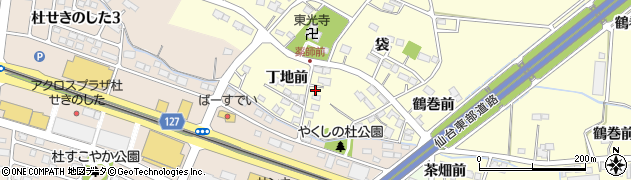 宮城県名取市下増田(丁地前)周辺の地図