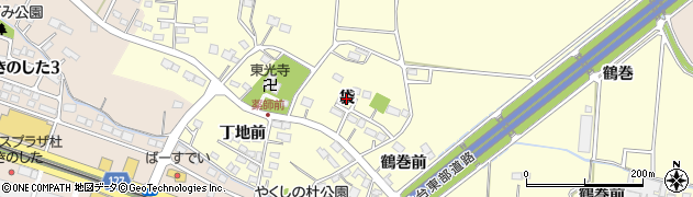 宮城県名取市下増田(袋)周辺の地図