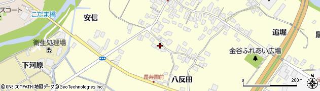 山形県上山市金谷77周辺の地図