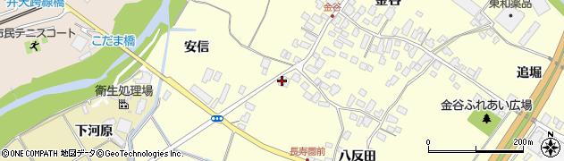 山形県上山市金谷81周辺の地図