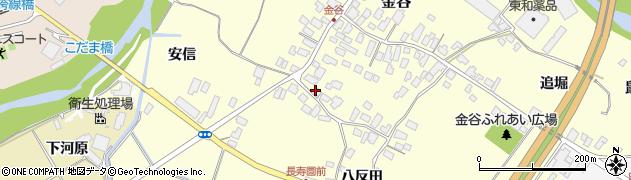 山形県上山市金谷78周辺の地図