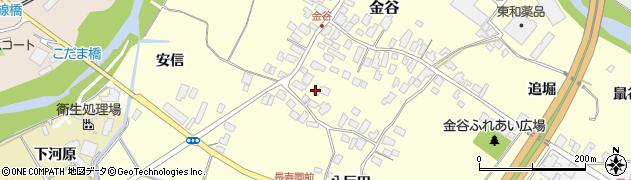 山形県上山市金谷76周辺の地図