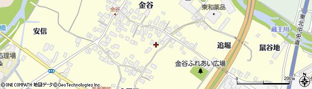 山形県上山市金谷49周辺の地図