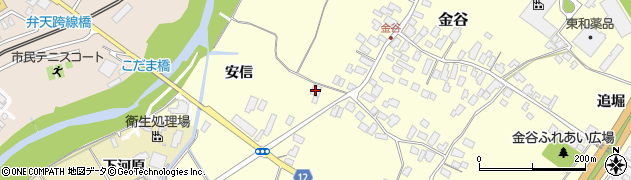 山形県上山市金谷82周辺の地図
