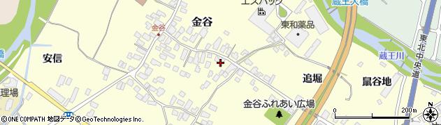 山形県上山市金谷40周辺の地図