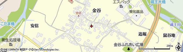 山形県上山市金谷32周辺の地図