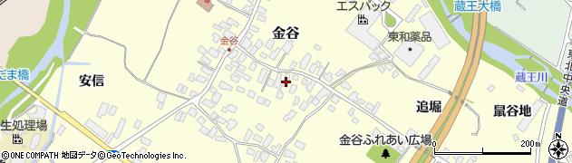 山形県上山市金谷35周辺の地図