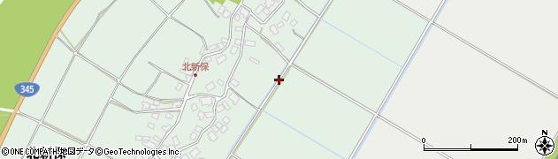 新潟県村上市北新保周辺の地図