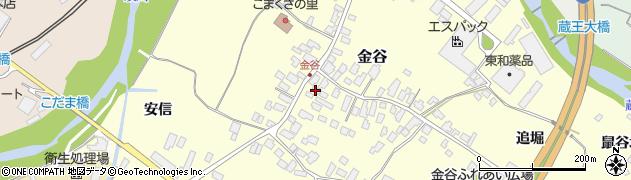 山形県上山市金谷12周辺の地図