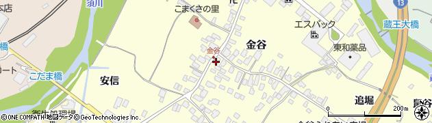 山形県上山市金谷21周辺の地図