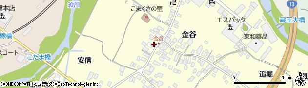 山形県上山市金谷13周辺の地図