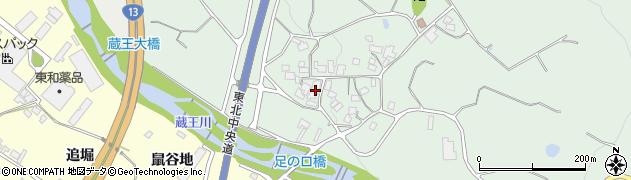 山形県上山市権現堂足ノ口周辺の地図