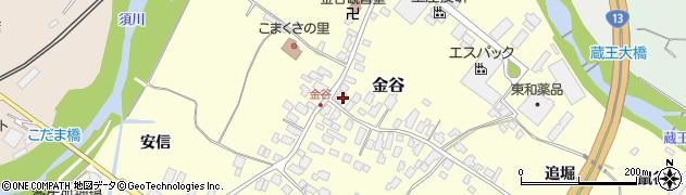 山形県上山市金谷20周辺の地図