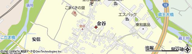 山形県上山市金谷25周辺の地図